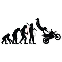Motocross Racing Evolution Decal Sticker