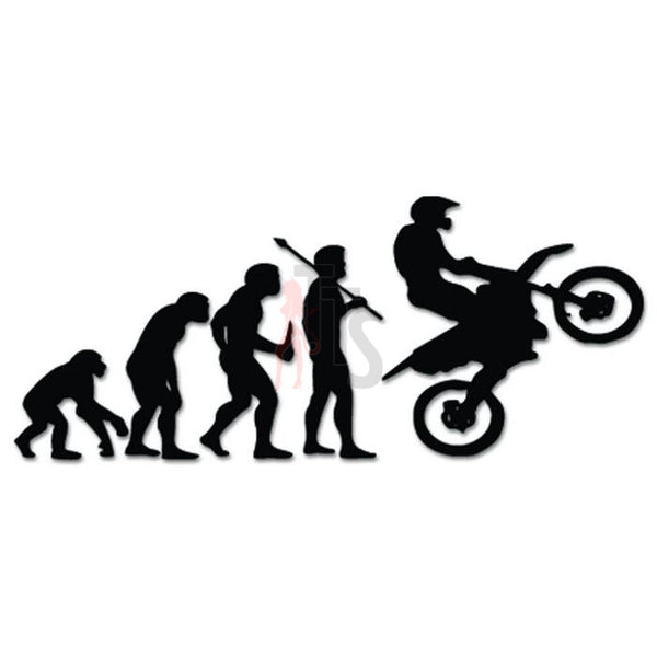 Motocross Racing Evolution Decal Sticker Style 1