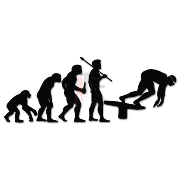 Olympic Swimming Evolution Decal Sticker