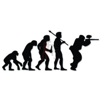 Paintball Paint Sports Evolution Decal Sticker