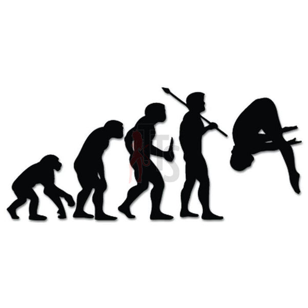 Cliff Platform Diving Sports Evolution Decal Sticker