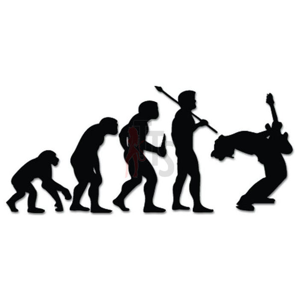 Rock Star Band Music Evolution Decal Sticker