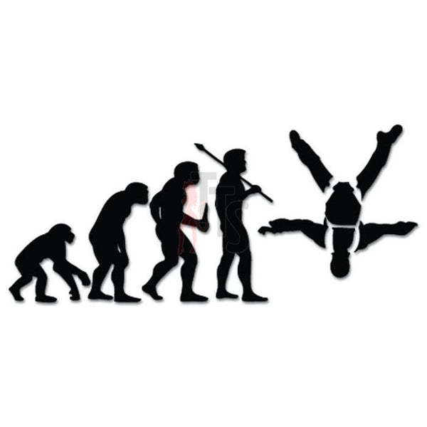 Skydiving Parachuting Parachute Evolution Decal Sticker Style 1