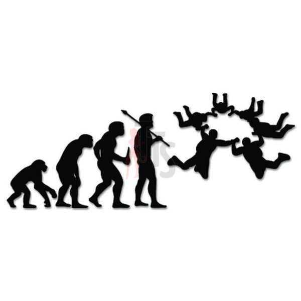 Skydiving Parachuting Parachute Evolution Decal Sticker Style 2