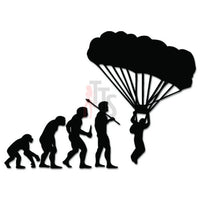 Skydiving Parachuting Parachute Evolution Decal Sticker Style 3