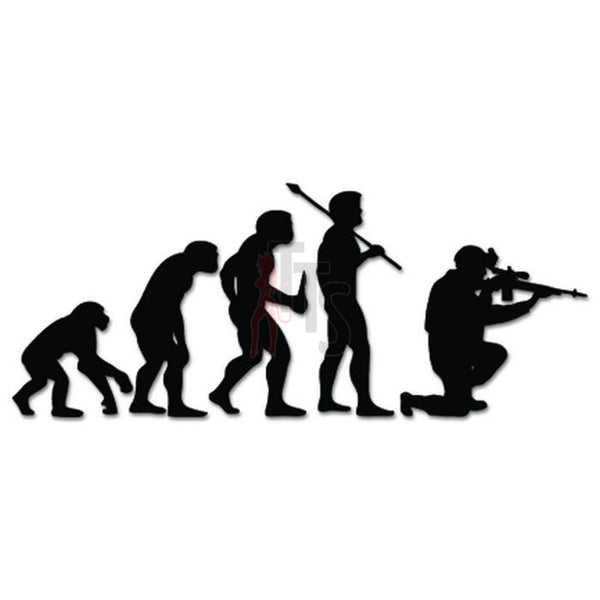 Military Sniper Evolution Decal Sticker