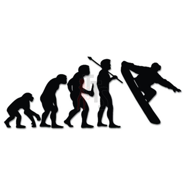 Snowboarding Snowboard Sports Evolution Decal Sticker