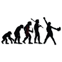 Baseball Softball Sports Evolution Decal Sticker