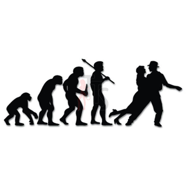 Swing Dancing Evolution Decal Sticker