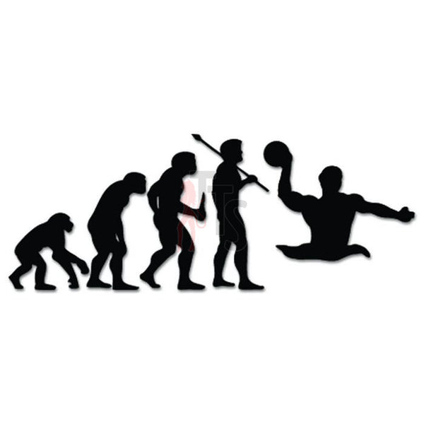 Water Polo Sports Evolution Decal Sticker