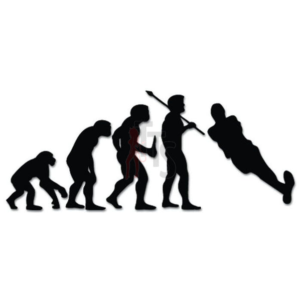 Water Skiing Sports Evolution Decal Sticker