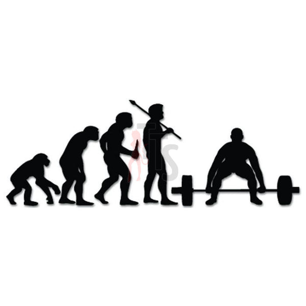 Weight Lifting Sports Evolution Decal Sticker