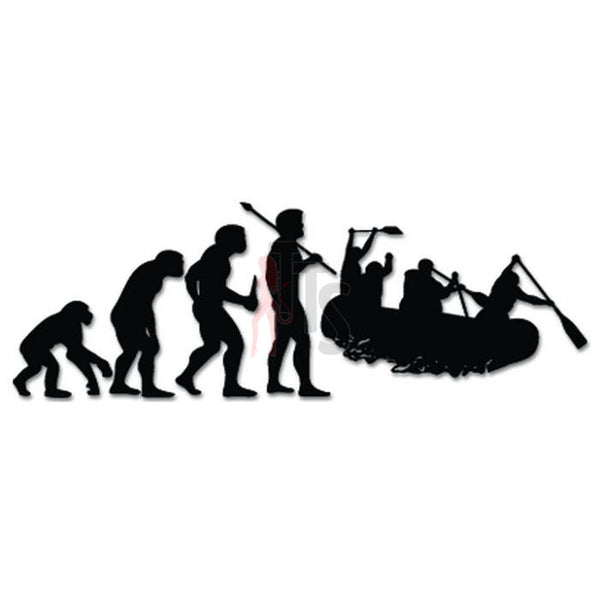 Whitewater Rafting Sports Evolution Decal Sticker