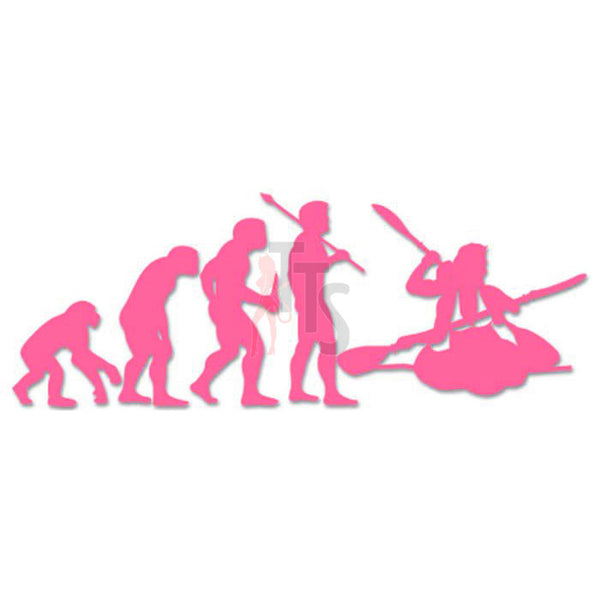 Women Kayaking Sports Evolution Decal Sticker