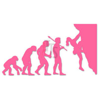 Women Mountain Climbing Sports Evolution Decal Sticker