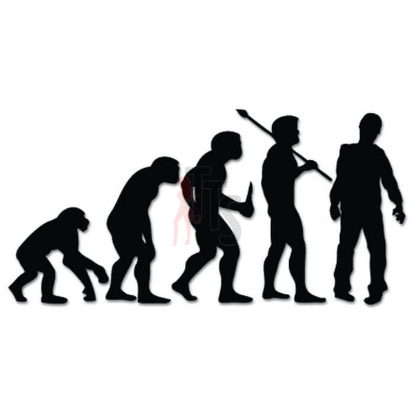 Zombie Walking Dead Evolution Decal Sticker