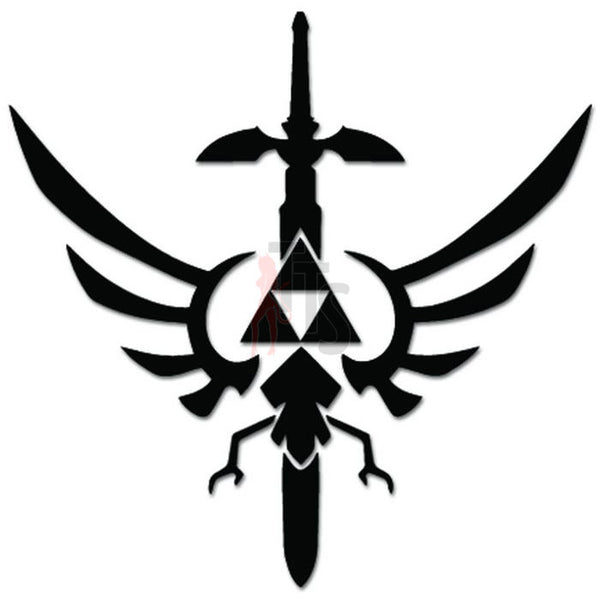 Legend Of Zelda Triforce Wings Sword Online Gaming Video Game Decal Sticker