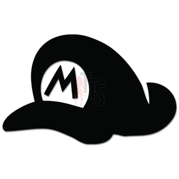 Mario Bros Hat Online Gaming Video Game Decal Sticker