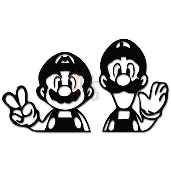 Mario Bros Luigi Online Gaming Video Game Decal Sticker Sticker Style 1