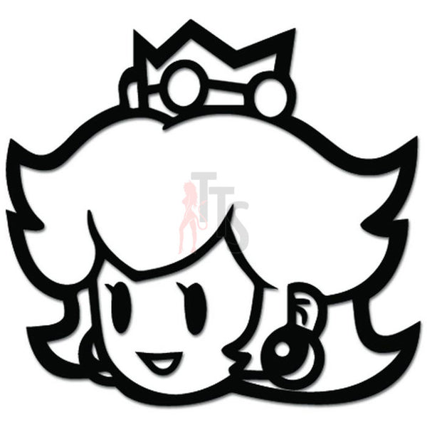 Mario Bros Princess Peach Online Gaming Video Game Decal Sticker Sticker Style 1