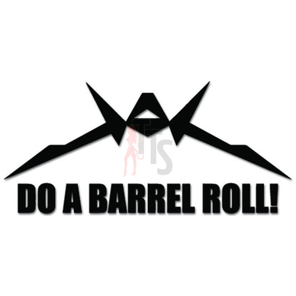 Starfox Barrel Roll Online Gaming Video Game Decal Sticker