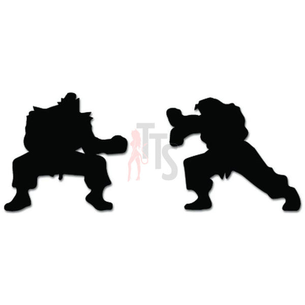 Street Fighter Hadouken Ken Ryu Fighting Online Gaming Video Game Decal Sticker Sticker Style 1
