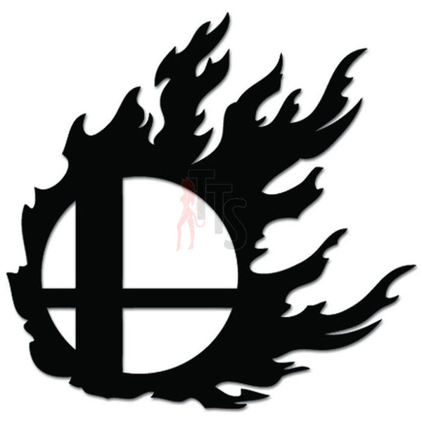 Super Smash Brothers Burning Smash Ball Online Gaming Video Game Decal Sticker