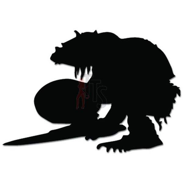 Troll Warrior Online Gaming Video Game Decal Sticker