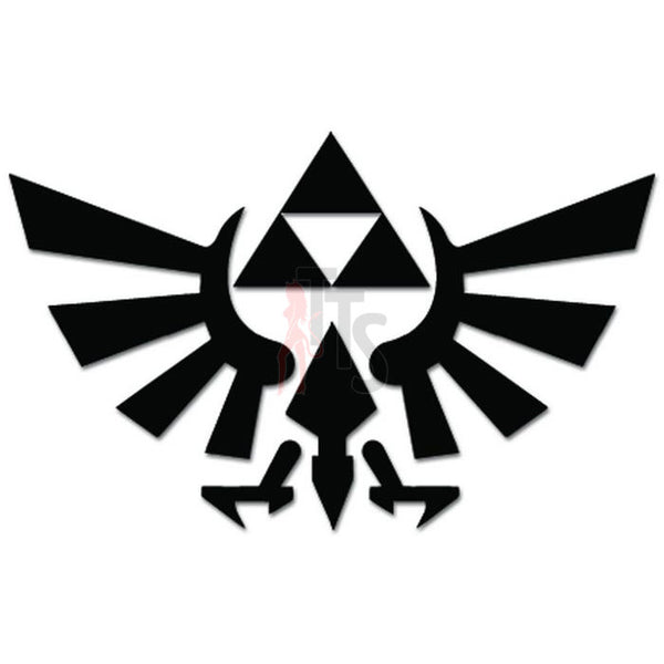 Zelda Triforce Wings Online Gaming Video Game Decal Sticker