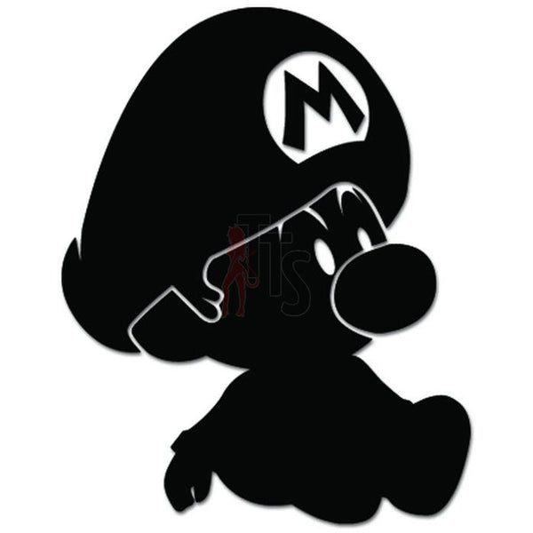 Baby Mario Bros Online Gaming Video Game Decal Sticker