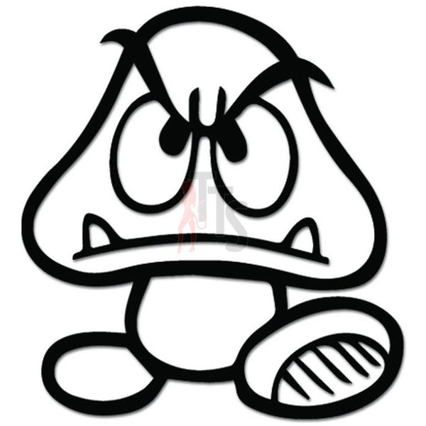 Goomba Super Mario Online Gaming Video Game Decal Sticker