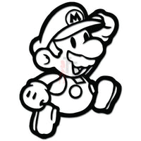 Mario Jumping Online Gaming Video Game Decal Sticker