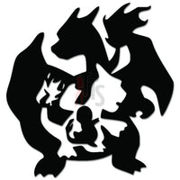 Pokemon Inspired Charmander Evolution Online Gaming Video Game Decal Sticker