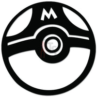 Pokemon Inspired Masterball Online Gaming Video Game Decal Sticker