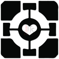 Portal Heart Cube Online Gaming Video Game Decal Sticker