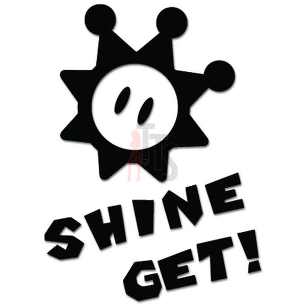 Shine Get Online Gaming Video Game Decal Sticker