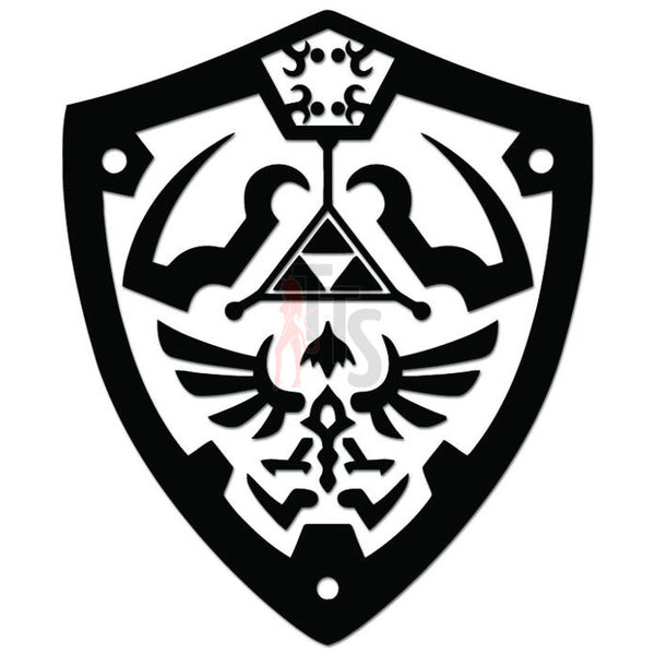 Zelda Shield Triforce Online Gaming Video Game Decal Sticker