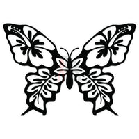 Butterfly Hibiscus Hawaii Decal Sticker