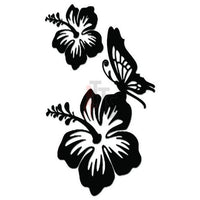 Hibiscus Butterfly Hawaii Decal Sticker