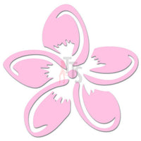 Plumeria Flower Hawaii Decal Sticker Style 1