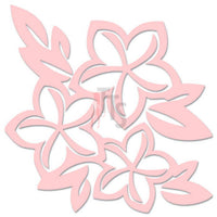 Plumeria Flower Hawaii Decal Sticker Style 3