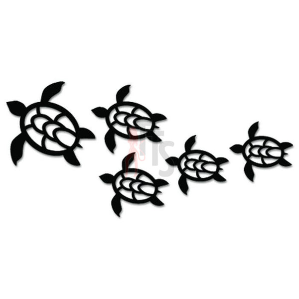 Sea Turtle Family Hawaii Decal Sticker