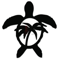 Sea Turtle Palm Tree Hawaii Decal Sticker