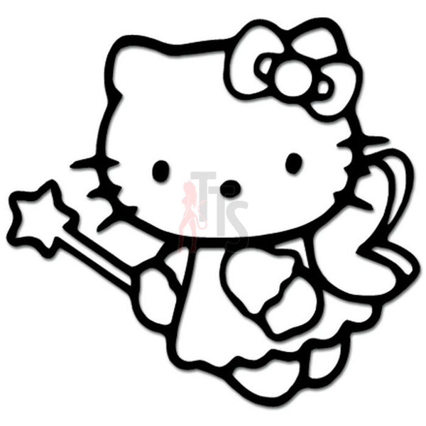 Hello Kitty Angel Wings Inspired Decal Sticker