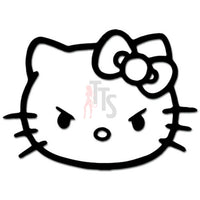 Hello Kitty Angry Face Inspired Decal Sticker