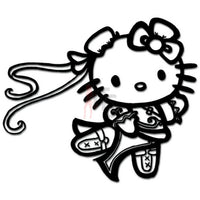 Hello Kitty Chun Li Street Fighter Inspired Decal Sticker