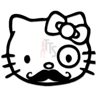 Hello Kitty French Mustache Inspired Decal Sticker