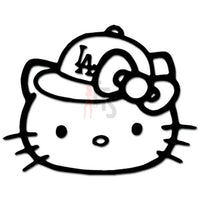 Hello Kitty Los Angeles Dodgers Baseball Fan Inspired Decal Sticker