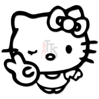 Hello Kitty Hand Peace Sign Inspired Decal Sticker
