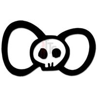 Hello Kitty Bow Tie Death Skull Inspired Decal Sticker